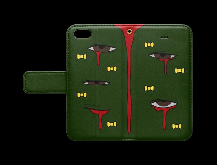 手帳型iPhoneケース - iPhone5 - ストラップ穴 あり