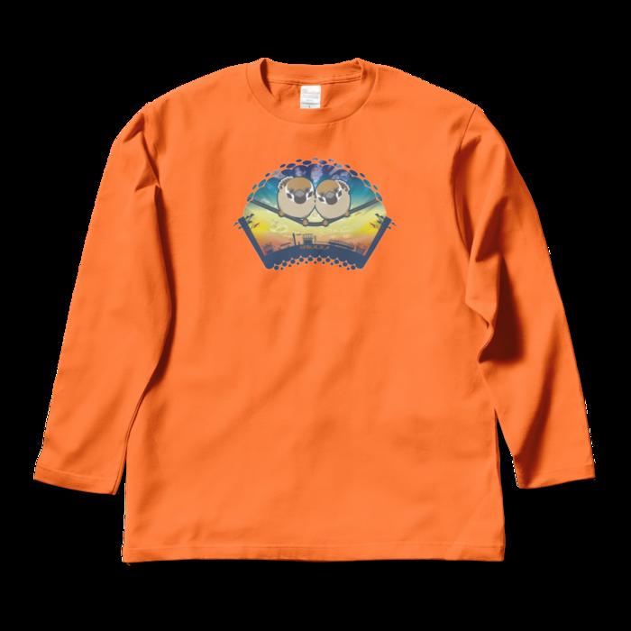 ロングスリーブTシャツ - L - オレンジ