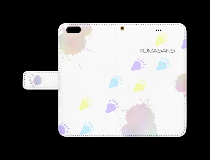 手帳型iPhoneケース - iPhone 6 Plus / 6s Plus - ストラップ穴 あり(白)