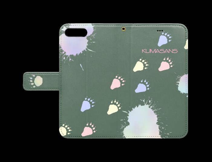 手帳型iPhoneケース - iPhone 8 Plus / 7 Plus - ストラップ穴 あり(緑)