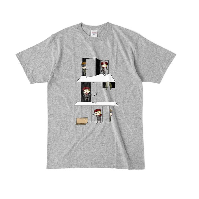 カラーTシャツ(濃色) - L - 杢グレー