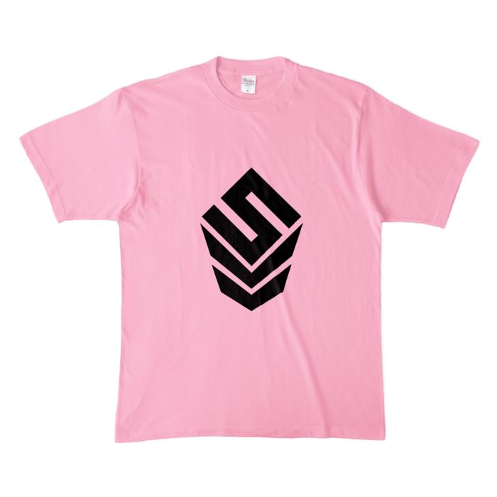 カラーTシャツ(淡色) - XL - ピーチ