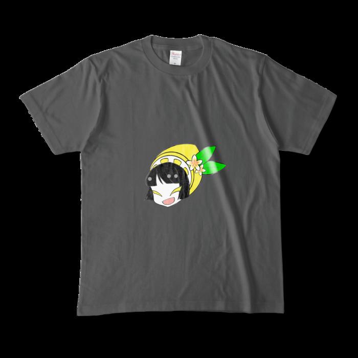 カラーTシャツ(濃色) - M - 両面 - チャコール