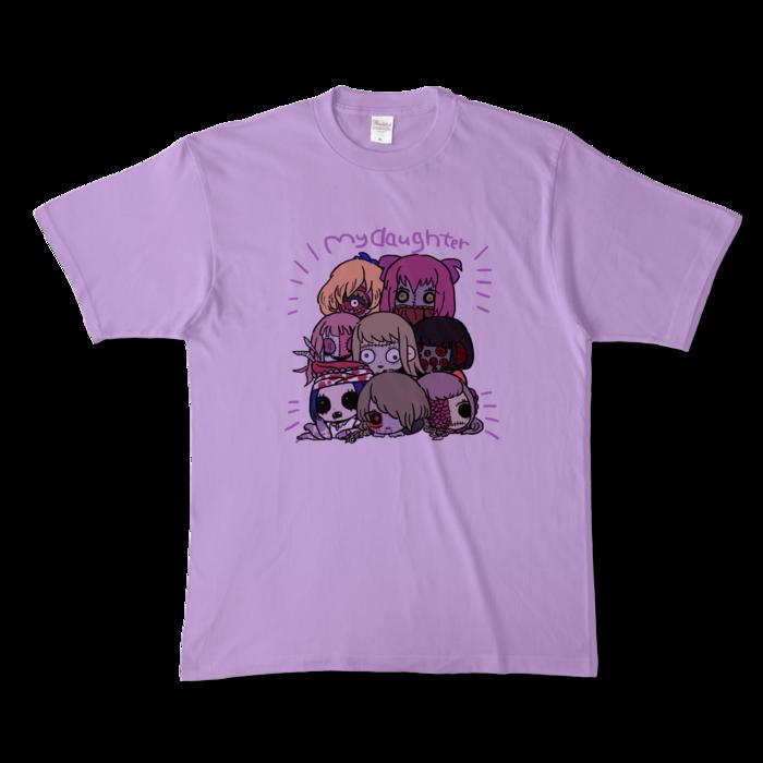 カラーTシャツ(淡色) - XL - 正面 - ライトパープル