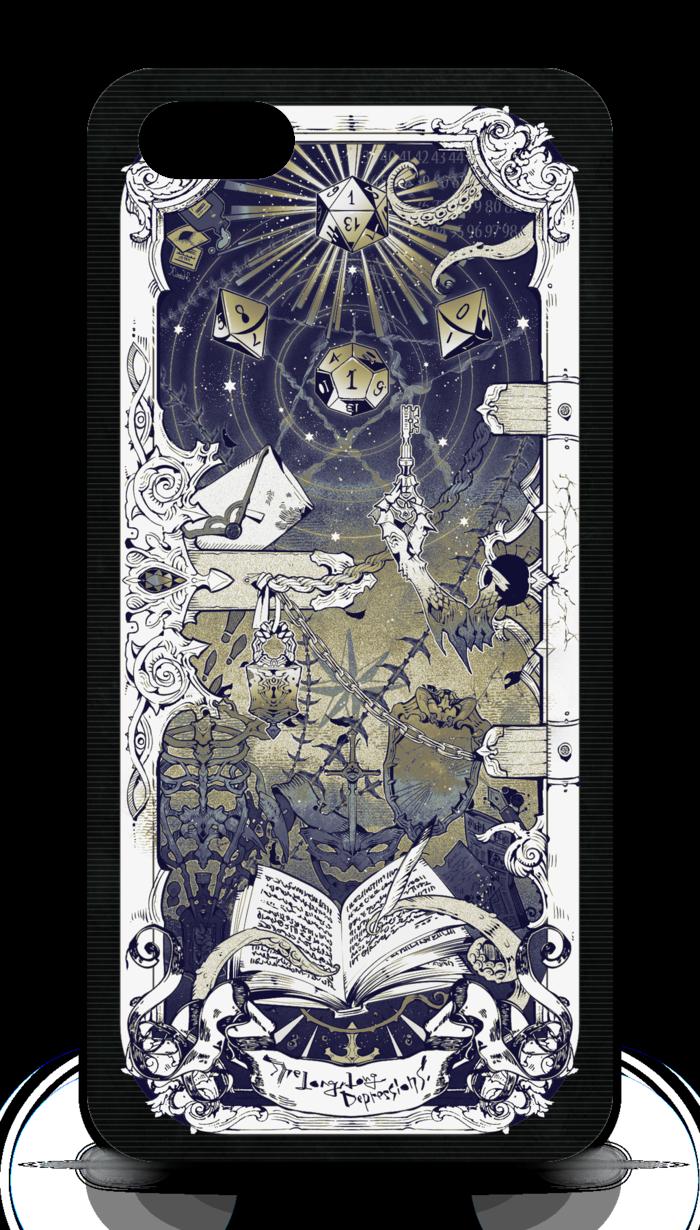 iPhone5ケース/黒・側面あり