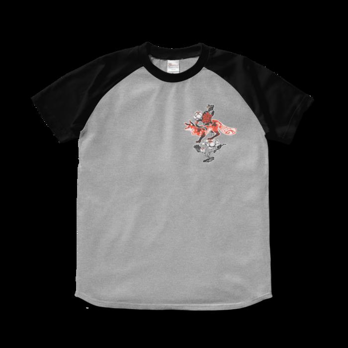 ラグランTシャツ - S - 杢グレー×ブラック