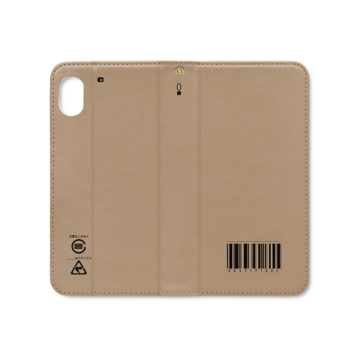 手帳型iPhoneケース(ベルトなし) - iPhone XR - ストラップ穴 あり