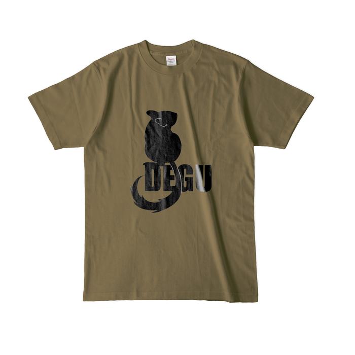 カラーTシャツ(濃色) - L - オリーブ