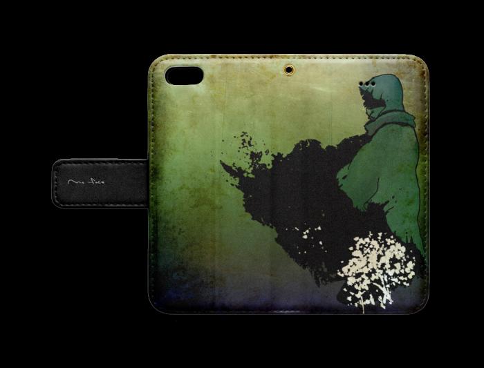 手帳型iPhoneケース - iPhone 5 / 5s / SE - ストラップ穴 あり
