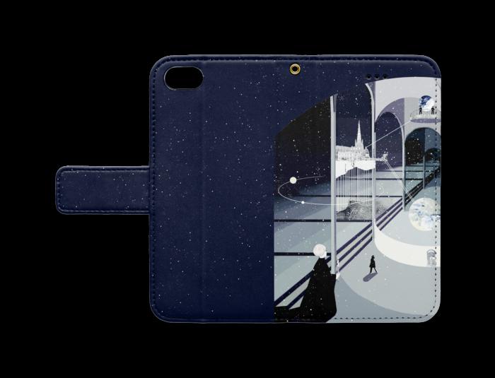 手帳型iPhoneケース - iPhone 7 - ストラップ穴 あり