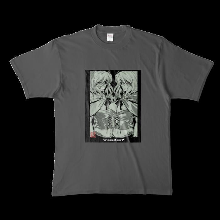 カラーTシャツ(濃色) - XL - 正面 - チャコール