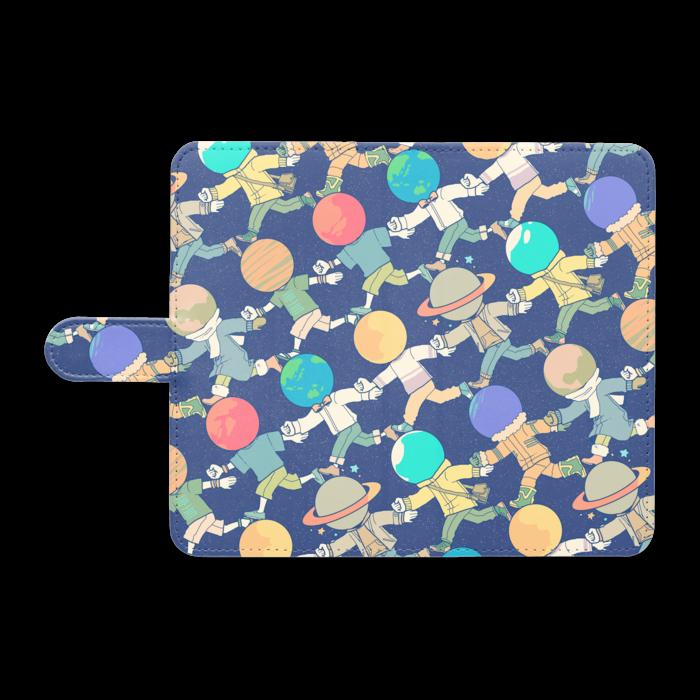 手帳型Androidケース - L - ゆるっとネイビー