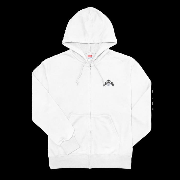 ジップパーカー - M - ホワイト