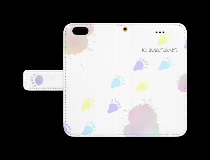 手帳型iPhoneケース - iPhone 6 / 6s - ストラップ穴 あり(白)