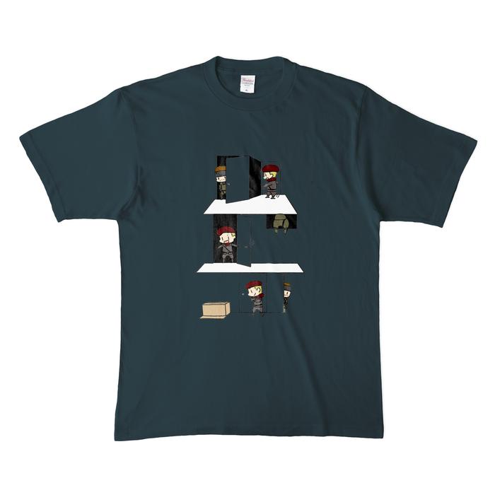 カラーTシャツ(濃色) - XL - デニム