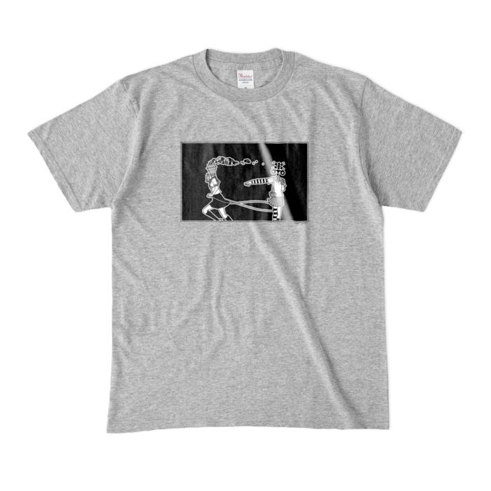 カラーTシャツ(濃色) - M - 杢グレー