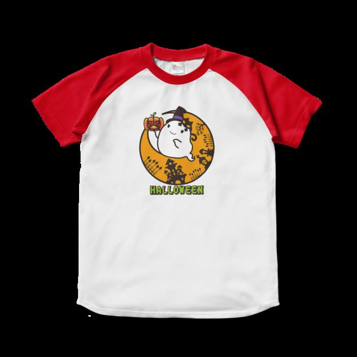 ラグランTシャツ - S - ホワイト×レッド