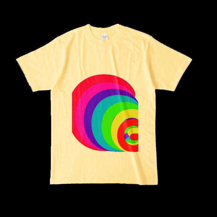 カラーTシャツ - L - ライトイエロー (淡色)