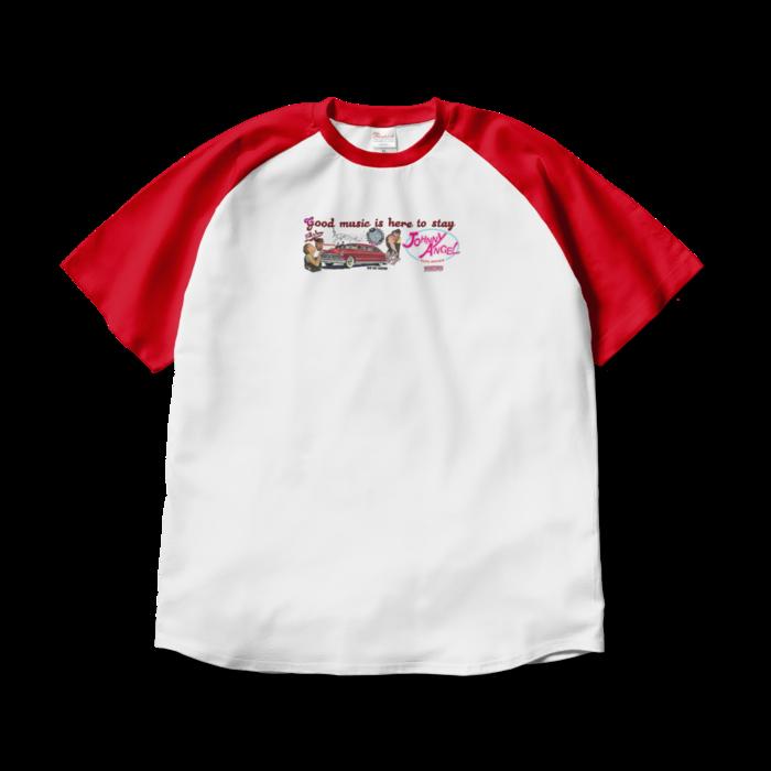 ラグランTシャツ - XL - ホワイト×レッド