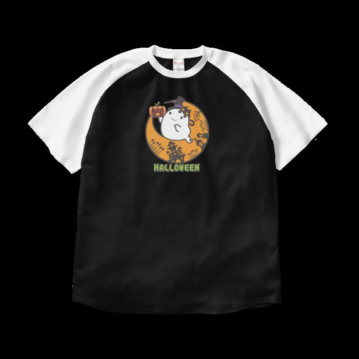 ラグランTシャツ - XL - ブラック×ホワイト