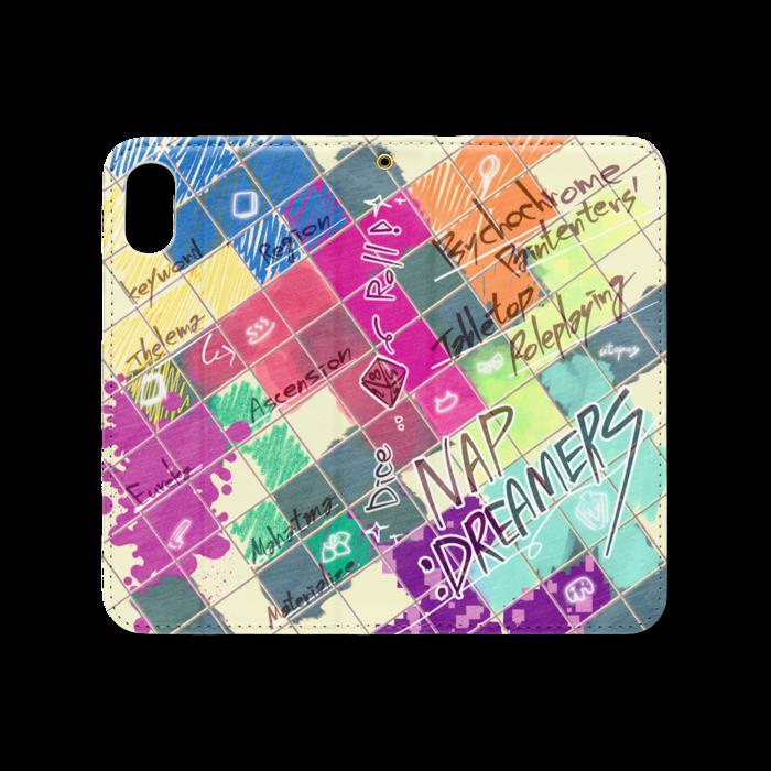 手帳型iPhoneケース(ベルトなし) - iPhone XS / X - ストラップ穴 あり