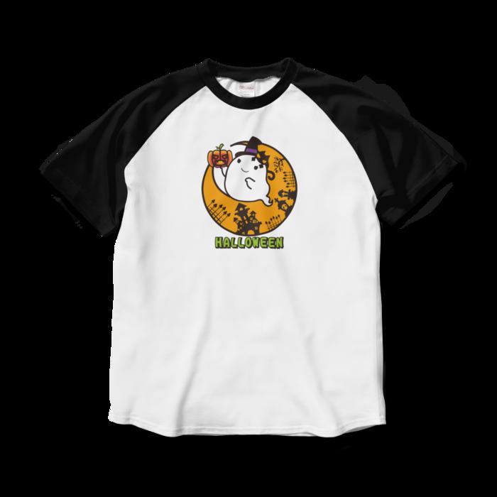 ラグランTシャツ - L - ホワイト×ブラック