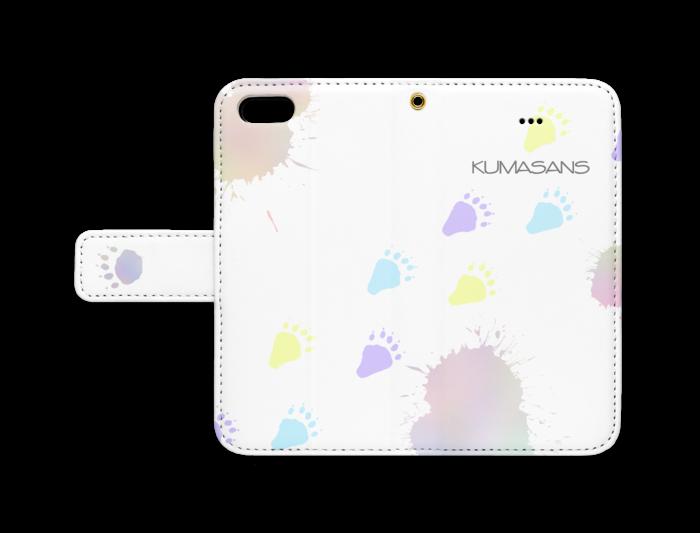 手帳型iPhoneケース - iPhone 5 / 5s / SE - ストラップ穴 あり(白)