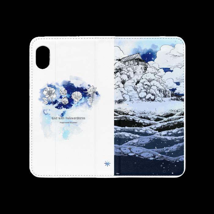 手帳型iPhoneケース(ベルトなし) - iPhone XR - ストラップ穴 なし