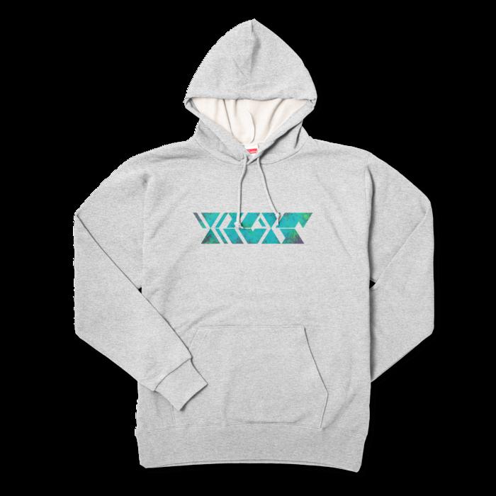 サイケグリーン - XL - 杢グレー
