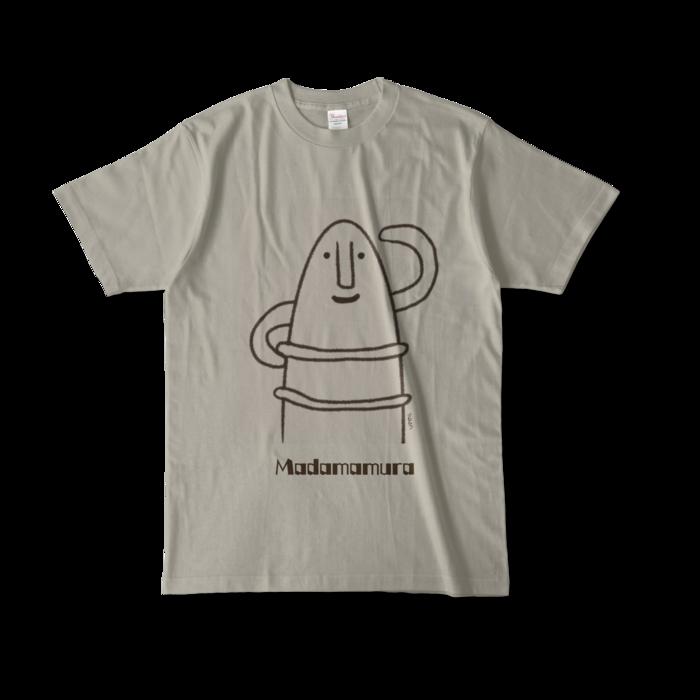 カラーTシャツ(淡色) - L - 正面 - シルバーグレー