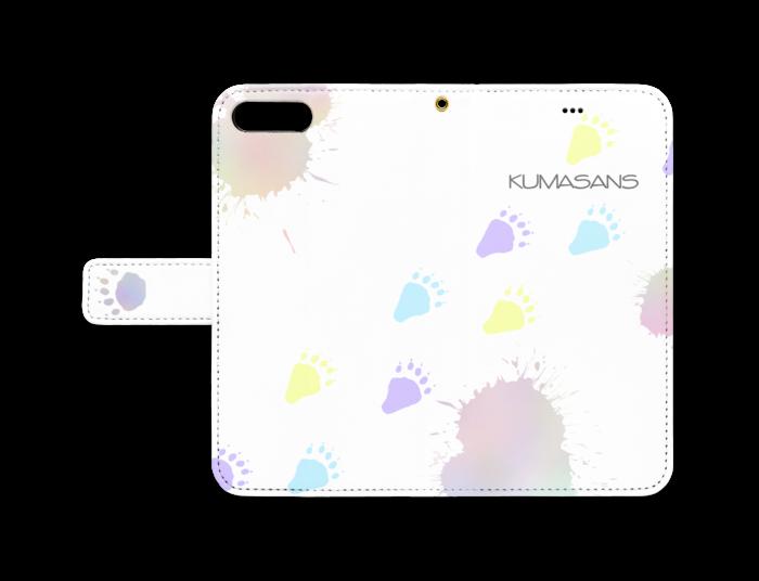 手帳型iPhoneケース - iPhone 8 Plus / 7 Plus - ストラップ穴 あり(白)