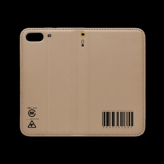 手帳型iPhoneケース(ベルトなし) - iPhone 5 / 5s / SE - ストラップ穴 あり