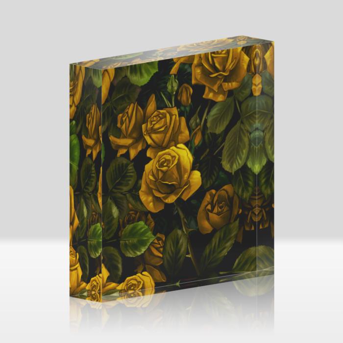 黄薔薇(100x100mm)