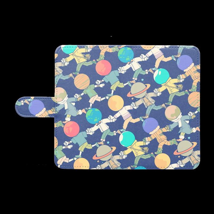 手帳型Androidケース - M - ゆるっとネイビー