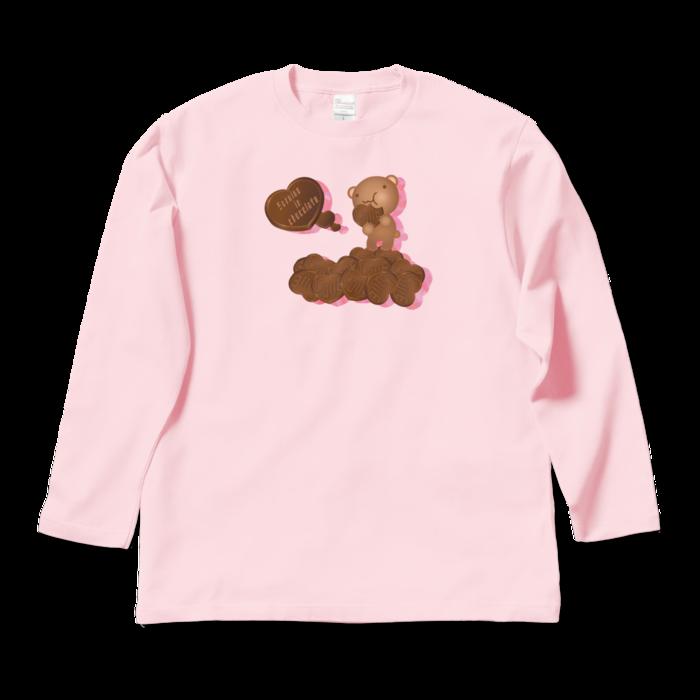 ロングスリーブTシャツ - L - ライトピンク