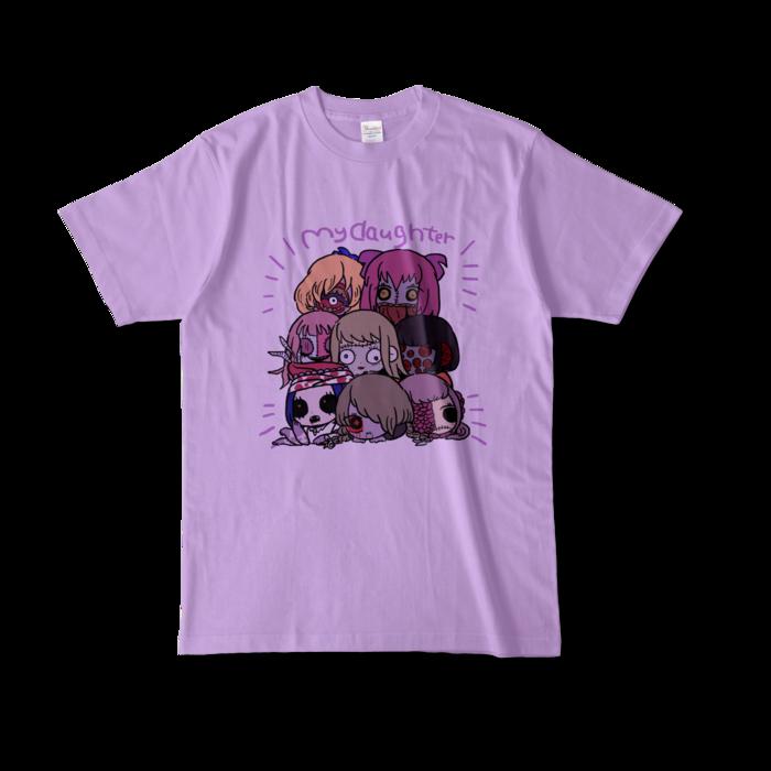 カラーTシャツ(淡色) - L - 正面 - ライトパープル