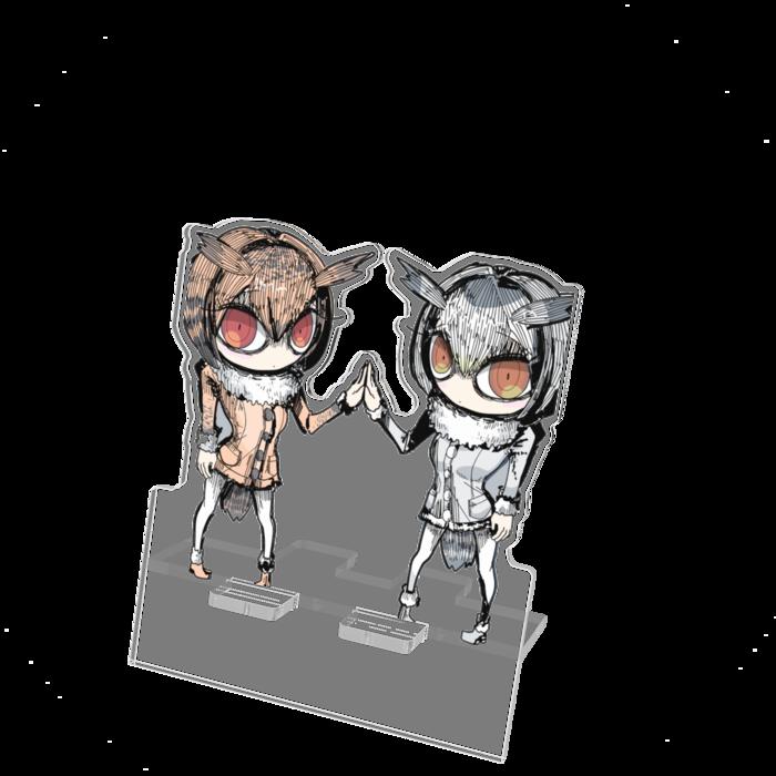 コノハ博士とミミ助手|アクリルスマホスタンド - 100x160mm