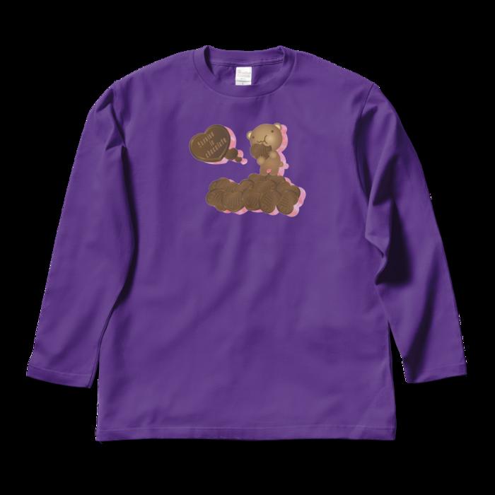 ロングスリーブTシャツ - L - パープル