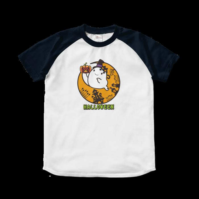 ラグランTシャツ - S - ホワイト×ネイビー