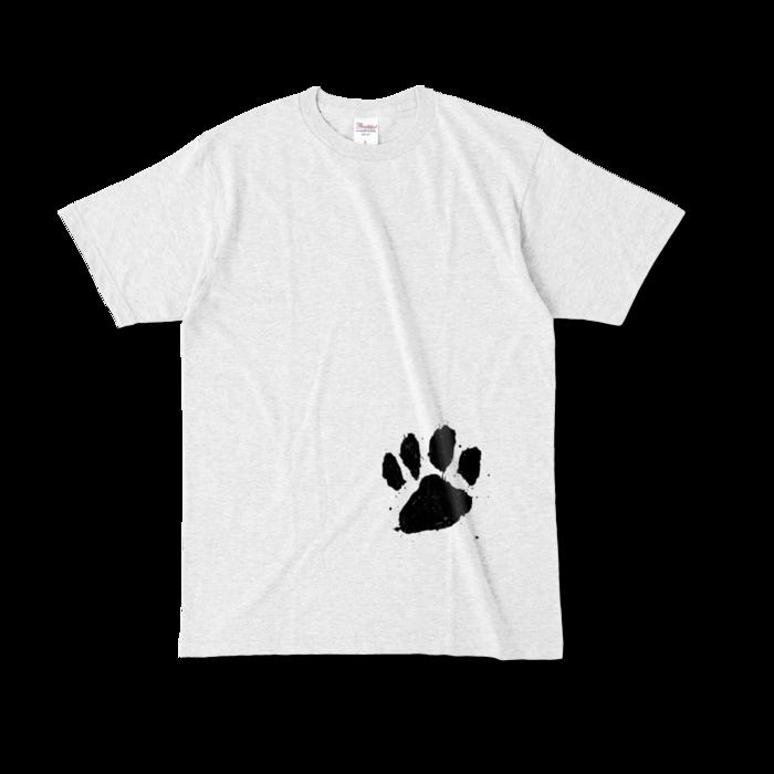 カラーTシャツ(淡色) - L - 正面 - アッシュ