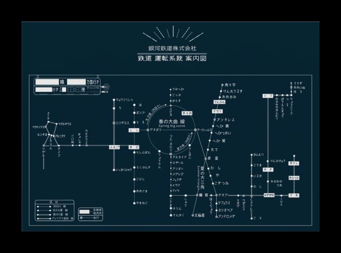 銀河鉄道 路線図ポスター Sane St Booth