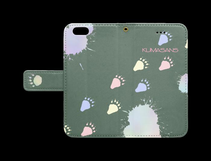 手帳型iPhoneケース - iPhone 6 / 6s - ストラップ穴 あり(緑)