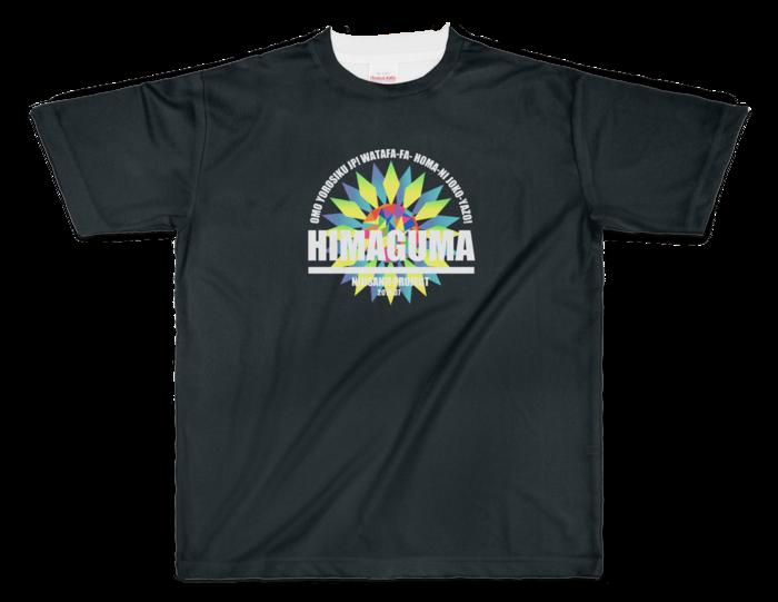 フルグラフィックTシャツ 黒 - XL - 両面印刷