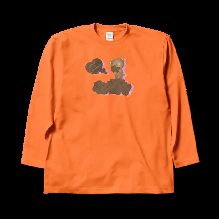 ロングスリーブTシャツ - XL - オレンジ