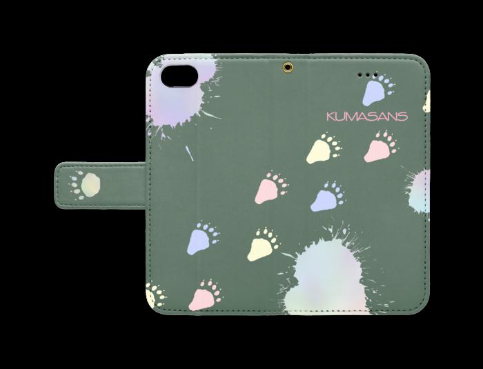 手帳型iPhoneケース - iPhone 8 / 7 - ストラップ穴 あり(緑)