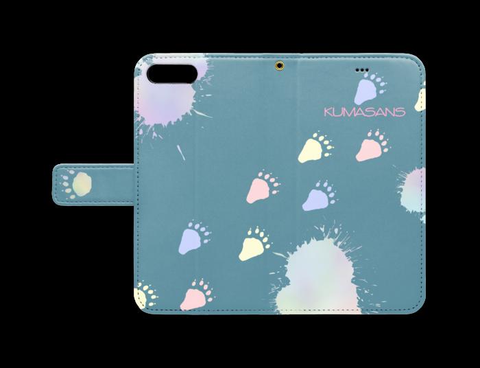 手帳型iPhoneケース - iPhone 8 Plus / 7 Plus - ストラップ穴 あり(青)