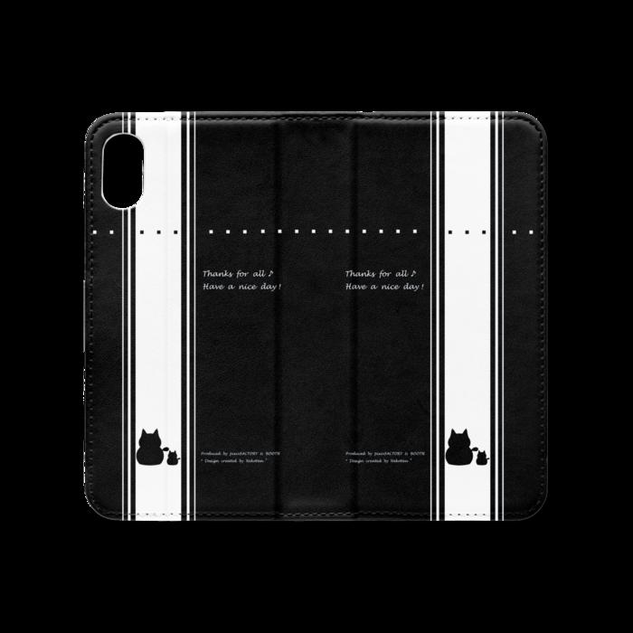 手帳型iPhoneケース(ベルトなし) - iPhone XS / X - ストラップ穴 なし