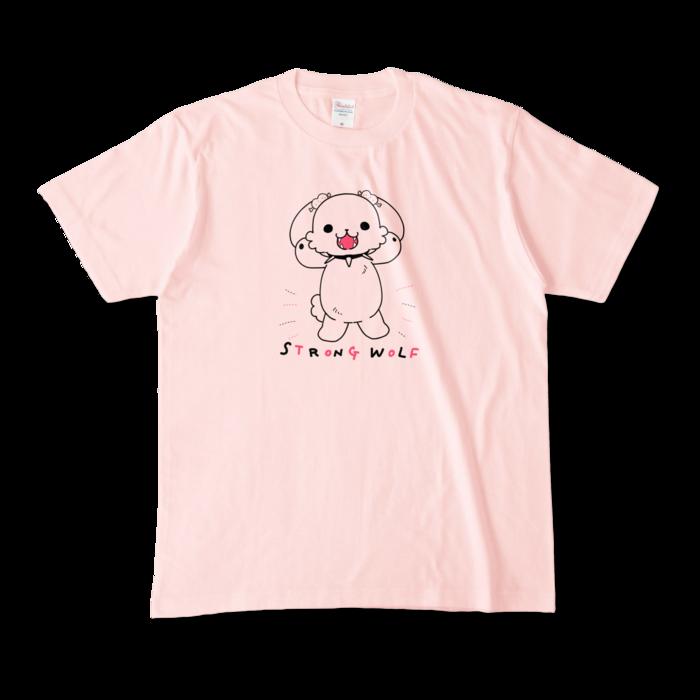 カラーTシャツ(淡色) - M - 正面 - ライトピンク
