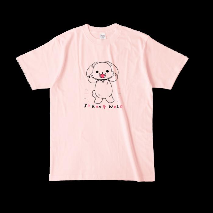 カラーTシャツ(淡色) - L - 正面 - ライトピンク
