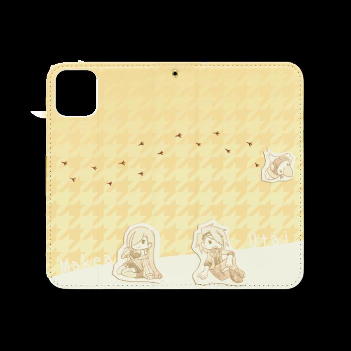 手帳型iPhoneケース(ベルトなし) - iPhone 11 - ストラップ穴 あり